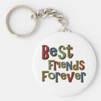 Mejores amigos Forerver Llavero Redondo Tipo Pin