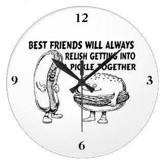 Mejores amigos hamburguesa y problema del perrito relojes