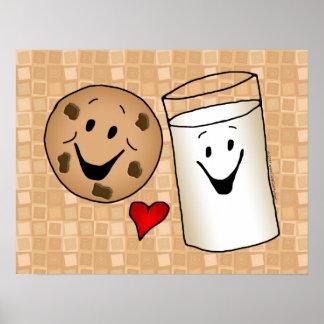 Mejores amigos, leche del amor de las galletas posters