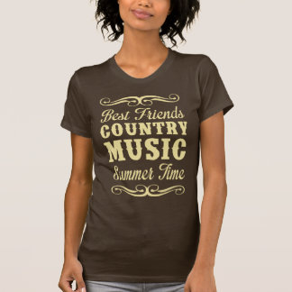 Mejores amigos, música country, tiempo de verano camisetas