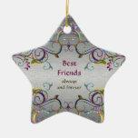 Mejores amigos - ornamento de la estrella del ornamentos de reyes magos