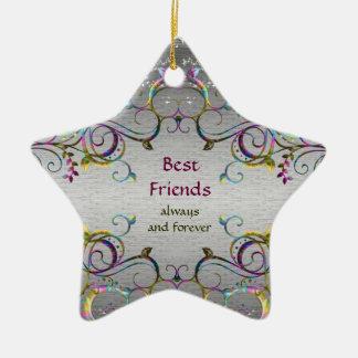 Mejores amigos - ornamento de la estrella del mode ornamentos de reyes magos