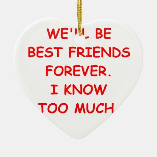 mejores amigos ornatos
