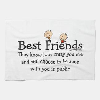 Mejores amigos toalla de mano