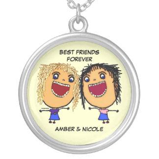 Mejores amigos para el dibujo animado de la vida pendiente
