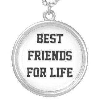 Mejores amigos para la vida colgante redondo