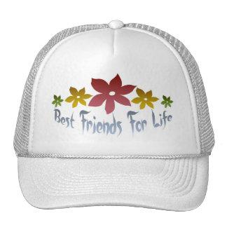 Mejores amigos para la vida gorros bordados