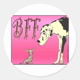Mejores amigos para siempre 03.png rosado etiqueta redonda