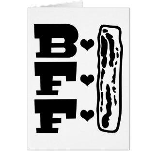 Mejores amigos para siempre BBFF del tocino Tarjeta De Felicitación