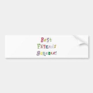 Mejores amigos para siempre etiqueta de parachoque