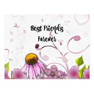 Mejores amigos para siempre, diseño gráfico de la postales