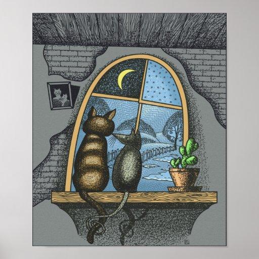 Mejores amigos para siempre, gato y ratón, impresiones