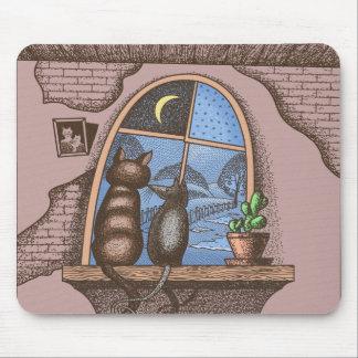 Mejores amigos para siempre, gato y ratón, tapete de ratones