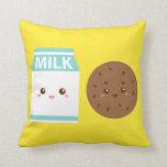 Mejores amigos para siempre, leche y galletas lind almohada