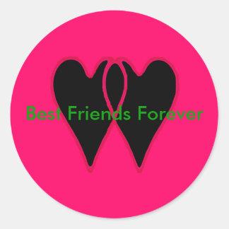 Mejores amigos para siempre los regalos de Zazzle Etiqueta Redonda