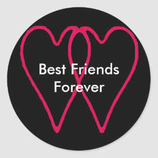 Mejores amigos para siempre los regalos de Zazzle Pegatinas Redondas