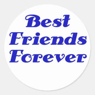 Mejores amigos para siempre etiquetas redondas