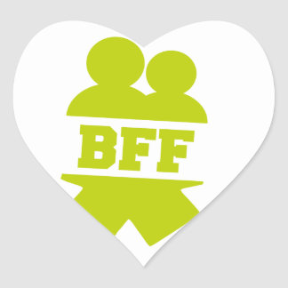 Mejores amigos para siempre pegatina de corazon personalizadas