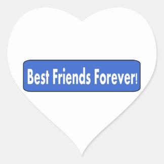 ¡Mejores amigos para siempre! Pegatinas Corazon