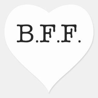 Mejores amigos para siempre pegatina corazón