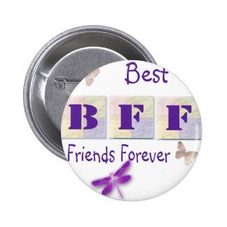 Mejores amigos para siempre pin redondo 5 cm