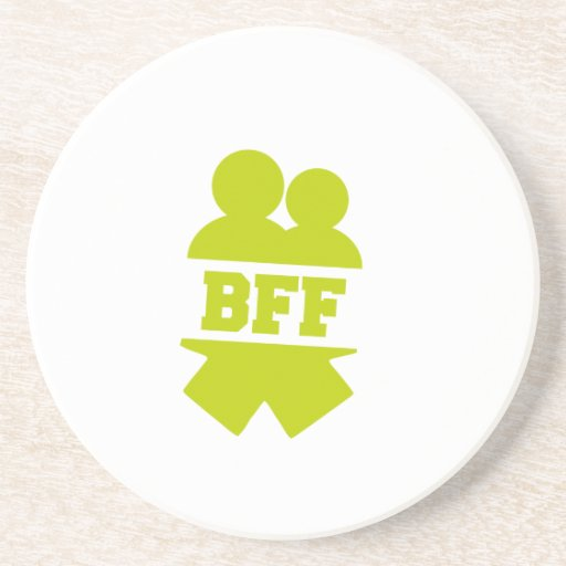 Mejores amigos para siempre posavasos diseño
