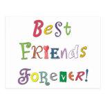 Mejores amigos para siempre postal