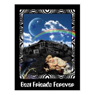 Mejores amigos para siempre postales