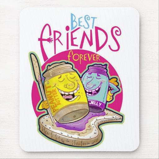 ¡Mejores amigos para siempre! Tapetes De Ratón