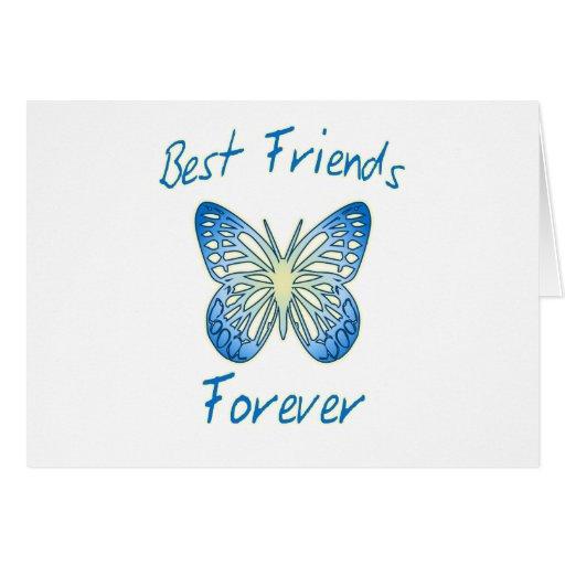 Mejores amigos para siempre tarjeta de felicitación