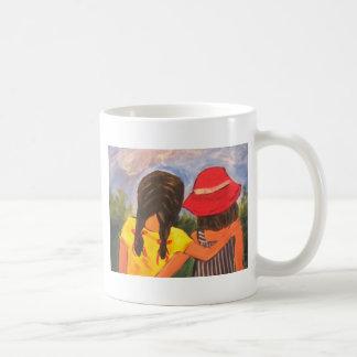Mejores amigos para siempre taza de café