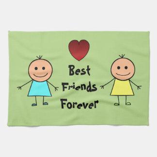 Mejores amigos para siempre toallas de mano