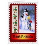 ¡Mejores amigos para siempre y para el navidad! Tarjeta