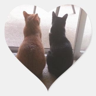 Mejores amigos pegatina en forma de corazón