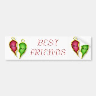 Mejores amigos pegatina para auto