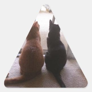 Mejores amigos pegatina triangular