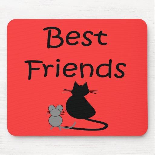 Mejores amigos-- Ratón y gato Alfombrilla De Ratón