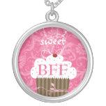 MEJORES AMIGOS rosados del Damasco-BFF de la magda Pendientes Personalizados