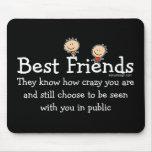 Mejores amigos tapete de ratón
