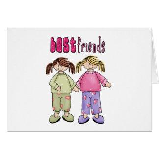 Mejores amigos tarjeta de felicitación
