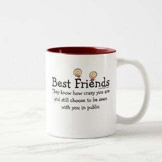 Mejores amigos taza de dos tonos