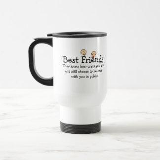 Mejores amigos taza de viaje de acero inoxidable