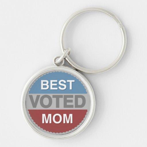 Mejores camisetas y regalos votados de la mamá llavero personalizado