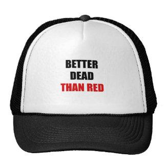 Mejores muertos que el rojo (2) gorros bordados