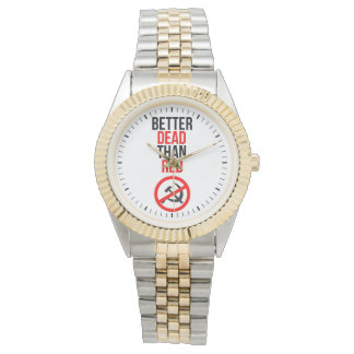 Mejores muertos que rojo relojes de pulsera