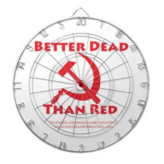 Mejores muertos que rojo tabla dardos