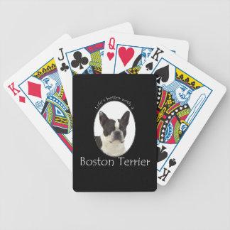 Mejores naipes de Boston Terrier de la vida Baraja De Cartas