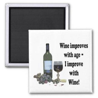 Mejoro con el vino, imán chistoso del vino