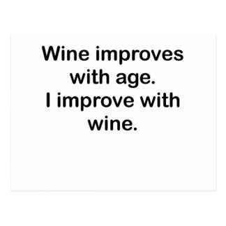 Mejoro con el vino postales