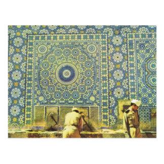 Meknes lugar que se lava musulmán postal